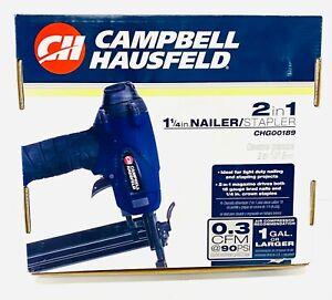 "Campbell Hausfeld 1-1/4"" 2-in-1 Brad Nailer/Stapler"