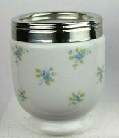 Royal Worcester Egg Coddler Cottage Flowers Porcelain Made In England W/O Lid