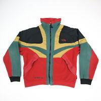 Vintage The North Face X Fleece Jacket Rasta Color Block USA Made Mens M RARE