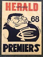 1968 Carlton Blues Premiership Poster ORIGINAL WEG