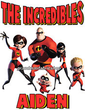 New The Incredibles Personalized Party Favor T Shirt birthday present gift