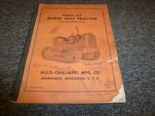 Allis Chalmers HD11 Crawler Tractor Parts Catalog Manual Book S/N 6473 & Up