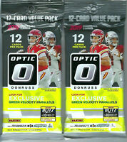 2 x 2019 2020 Donruss Optic Football NFL Trading Cards Factory Sealed Packs