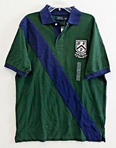 Polo Ralph Lauren Big & Tall Mens Green Blue RLPC Crest Rugby Shirt NWT Size 1XB