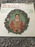 JIM REEVES 12 SONGS OF CHRISTMAS VINYL (1970) INTS 1188 VINTAGE XMAS RECORD LP