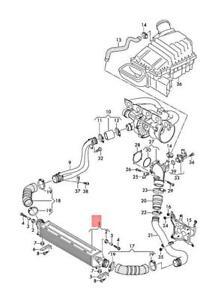 Genuine AUDI RSQ3 8UB Charge Air Cooler 8U0145803C