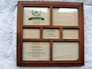 """Walnut Wood Collage Picture Frame by Heirloom 11-1/2"""" x 11-1/2"""" Square"""