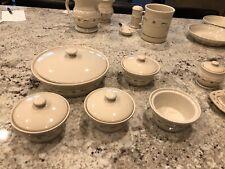 Longaberger Pottery Blue Woven Traditions Pieces Mint D/C Products Casserole Lot