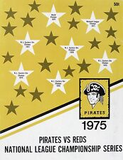 AWESOME 1975 PIRATES VS REDS NLCS PROGRAM COVER 8x10 PHOTO OF COVER