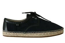 DOLCE & GABBANA Espadrilles Loafers Shoes Blue Suede Leather EU44 /US11 RRP $560