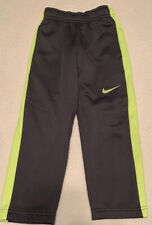 Nike Therma-Fit Boys Size 4 Sports Athletic Sweat Pants, Charcoal Gray & Yellow