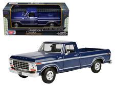 1/24 MOTORMAX 1979 Ford F-150 Custom Pickup Truck Diecast Model Car Blue 79346