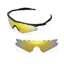 New WL Polarized 24K Gold Vented Replacement Lenses for Oakley M Frame Sweep