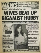 Weekly World News Aug 23 1983 - Wife Beats Up Bigamist Hubby - Brooke Shields