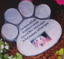 Dog or Cat Pet Paw Photo Memorial Grave Marker Head Stone Tombstone NEW