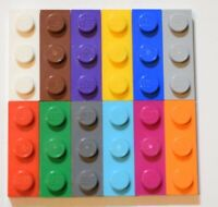 NEW LEGO Part Number 2571 in a choice of 4 colours