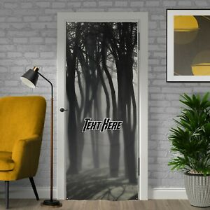 Halloween Decoration - Spooky Woods - Personalised Text Halloween Door Banner