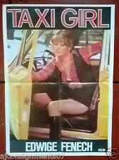 Taxi Girl {Edwige Fenech} Original Lebanese Movie Poster 70s