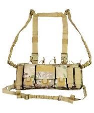 Trojan Tactical Chest Rig Utility Vest Pistol Mag GPS Army Coyote BTP MTP