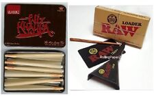 RAW Rolling Papers CONE LOADER +Wiz Khalifa CONE Storage TIN +6 King Size CONES