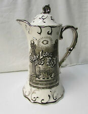 Antique Camden Lodge No. 15 Masonic Ceremonial Pitcher ~ Tho's Maddock's Sons