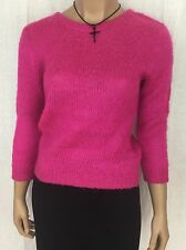 Pink Unbranded 3/4 Sleeve Sweater Wool Blend Women's Size Small