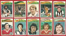 TOPPS FOOTBALLERS 1978 - ORANGE BACK - FOOTBALL TRADE CARDS x 10    (OK03)