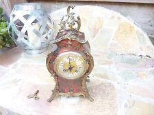 Antique S. Marti French Boulle Brass Inlay Clock Paris Circa 1900