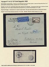 Lz127 Zeppelin Flight Cover Germany To Ontario, Canada Bs2840