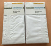 M&S Pair of White Cotton Rich Percale Housewife Pillowcases