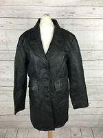 Women's Vintage Leather Jacket - UK12 - Black - Great Condition