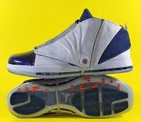 Air Jordan 16 Retro 'White Midnight Navy' Men's Shoes Size 18 [683075-106]
