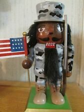 African American Soldier Army Military  Christmas  Nutcracker Patriotic