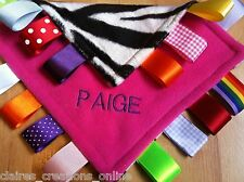 PERSONALISED TAGGY BLANKET/COMFORTER/GIFT IN PINK