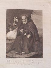 San Crispino Viterbo Pietro Fioretti acquaforte originale 1810 Calendi