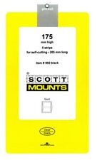 Prinz Scott Stamp Mount 175/265 BLACK Background Pack of 5