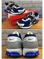 NIKE MENS UK 7 EU 41 ZOOM VOMERO 5 WHITE RACER BLUE BLACK TRAINERS LB