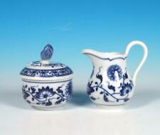 Hutschenreuther China Vintage Blue Onion Demitasse Individual Creamer Sugar Set