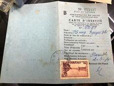indo-chine carte d identite-indochina id card viet nam-stamped $ 15 is very rare