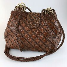 New listing Vintage Another Y&S Original Woven Vinyl Wicker Basket Crossbody Brown Purse Bag