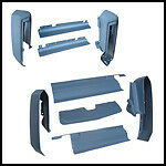 1977 - 78 Cadillac Eldorado Front & Rear Bumper Fillers (9-Pc Bumper Filler Set)
