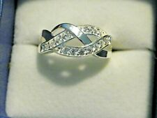 space ring size 8 Cubic Zirconia traditional negative