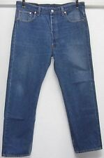LEVI'S 501 MEN'S 38W 30L BUTTON FLY 100% COTTON MEDIUM BLUE JEANS MADE IN USA