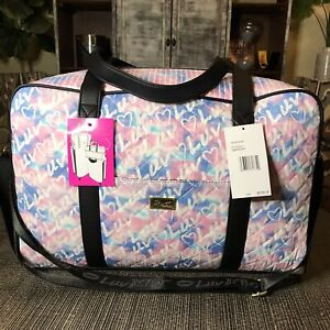 NWT Betsey Johnson Luv Betsey Weekender Travel Bag Blush Carry-On