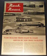 1952 Nash News Catalog Brochure Ambassador Rambler Zone Excellent Original 52