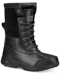 UGG® - Kids' Butte II Waterproof and Leather Winter Boots-Youth Size 2- NEW!!