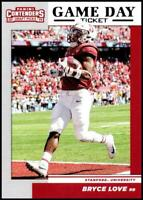 2019 Contenders Draft - BRYCE LOVE #3 RC game day ticket - Stanford Cardinal 🏈