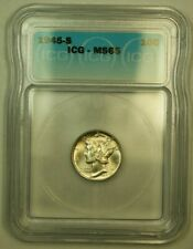 1945-S Silver Mercury Dime 10c Coin ICG MS-65 Q (FB IOO)