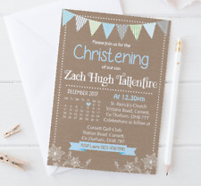 10 Personalised Christening Baptism Naming Day Photo Invites Invitations