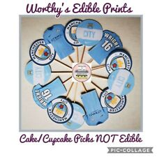 FOOTBALL CUPCAKE TOPPERS SET OF 12 BIRTHDAY PARTY CAKE PICKS (SINGLE SIDED)